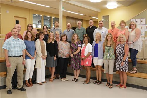 Our Principals for the 2017-18 school year at their annual training.