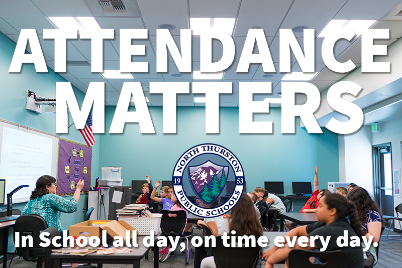 Attendance Matters! In school all day, on time every day.