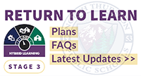 Back to School Plans, FAQs, Latest Updates. Current Stage: 3.