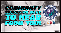 Community Survey - we want to hear from you! NTPS and CEE logos