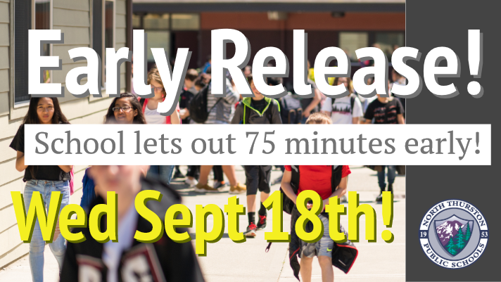 ACT / Early Release is September 18th! School lets out 75 minutes early!
