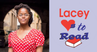 Oge Mora and the Lacey Loves to Read Logo