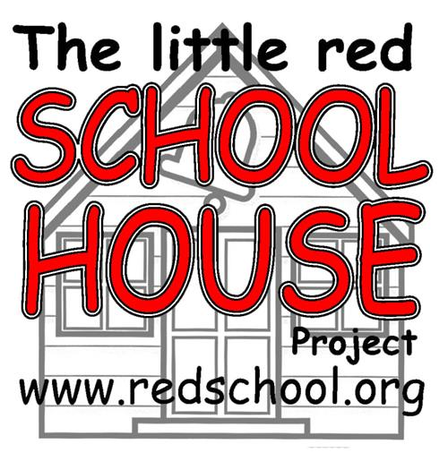 The Little Red Schoolhouse Logo with website www.redschool.org.