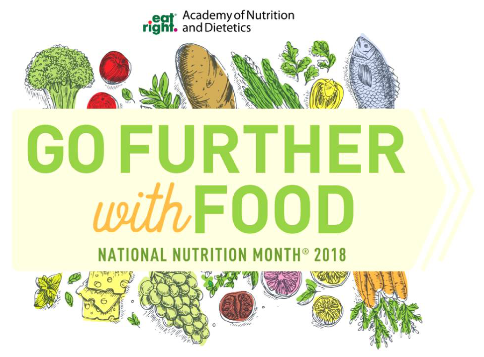 National Nutrition Month logo Go Further with Food.