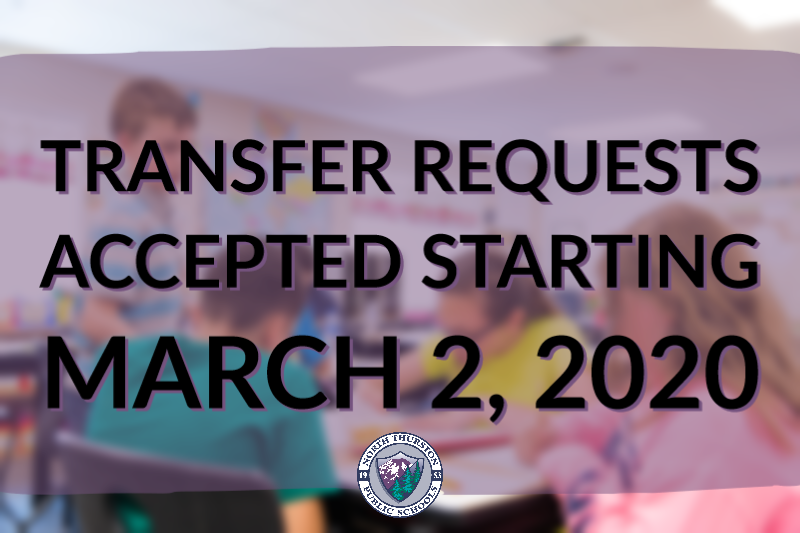 Transfer Requests Accepted Starting March 2, 2020