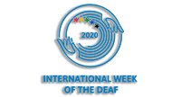 International Week of the Deaf 2020 logo