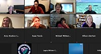 Zoom meeting screenshot of the Parent Advisory Council, held remotely.