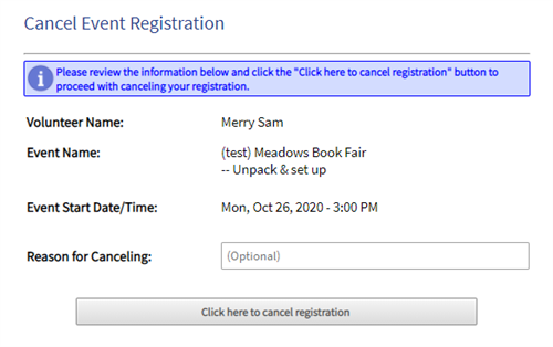 cancel event registration window