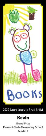 Kevin - Kindergarten, Pleasant Glade, Grand Prize Winning Bookmark