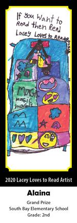 Alaina, 2nd Grade, South Bay Elementary, Grand Prize Winning Bookmark