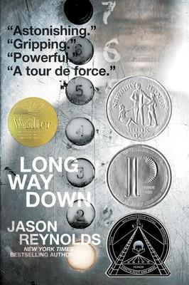 Book Cover for the Jason Reynolds book 'Long Way Down'