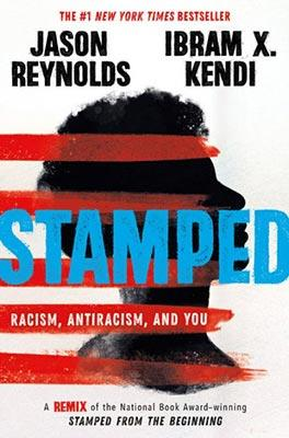 Book Cover for the Jason Reynolds book 'Stamped'