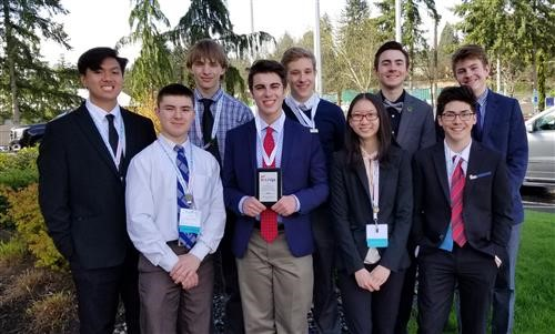 River Ridge High School FBLA at a competition