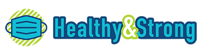 Healthy & Strong logo with mask