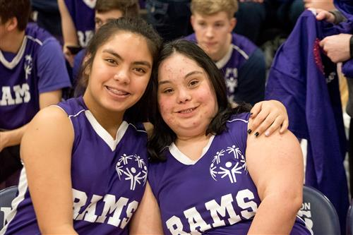 2 of the North Thurston Unified Basketball Team members