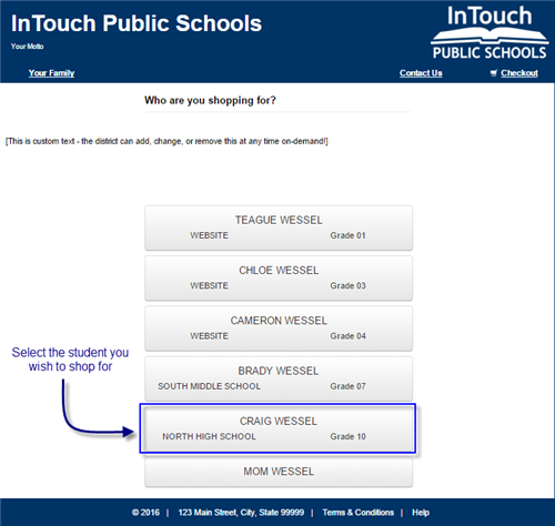 Touchbase Screenshot of the screen once a login was successful - a full student list.